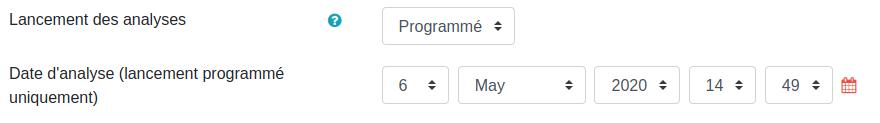Paramétrer le lancement de Compilatio