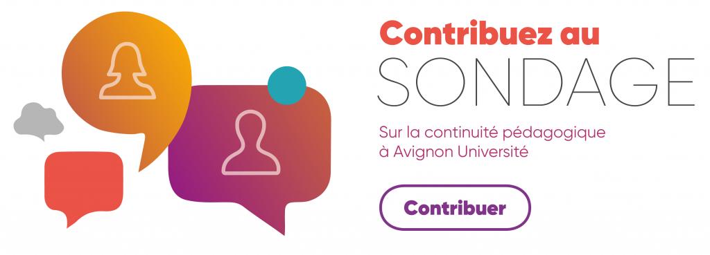 Contribuez au sondage sur la continuité pédagogique à Avignon Université